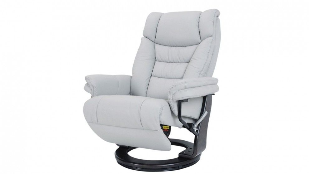 Sven Leather Swivel Recliner Living Dining Space