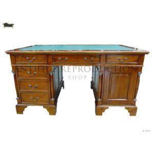 Perfect For Creating An Impression Empire Partner S Desk Antique Reproduction Writing Table