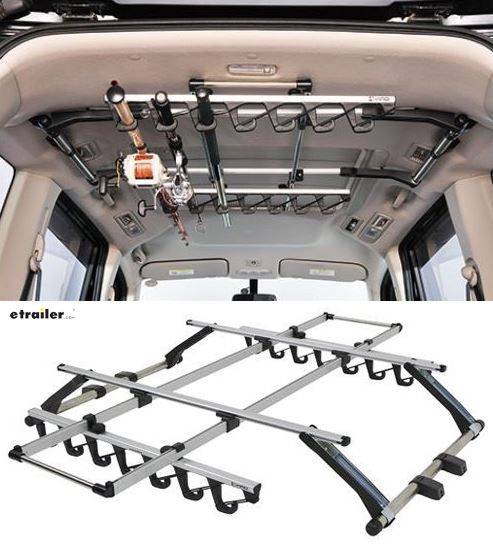 Inno fishing rod holder ceiling mount j hook style 7 for Suv fishing rod holder