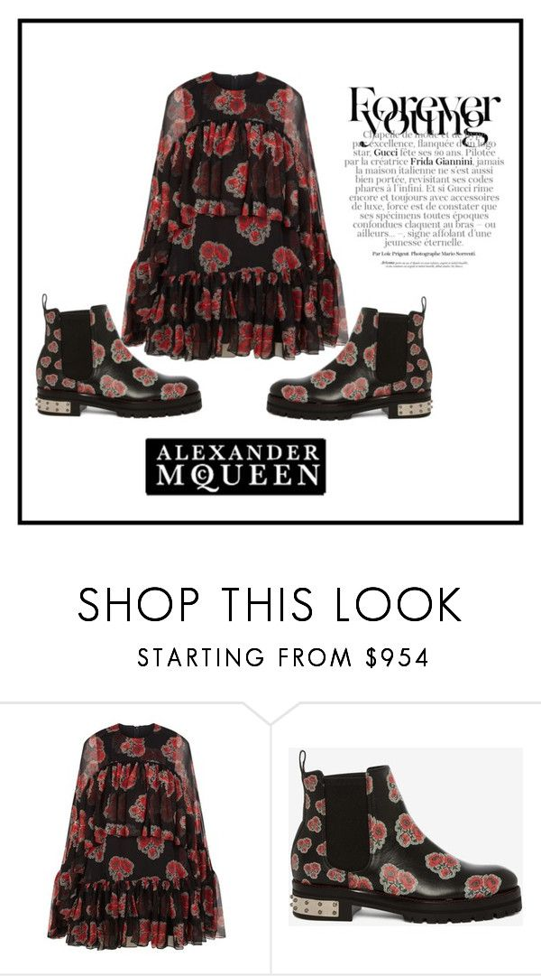 """""""Alexander McQueen"""" by ena07-dlxx ❤ liked on Polyvore featuring Alexander McQueen and Gucci"""