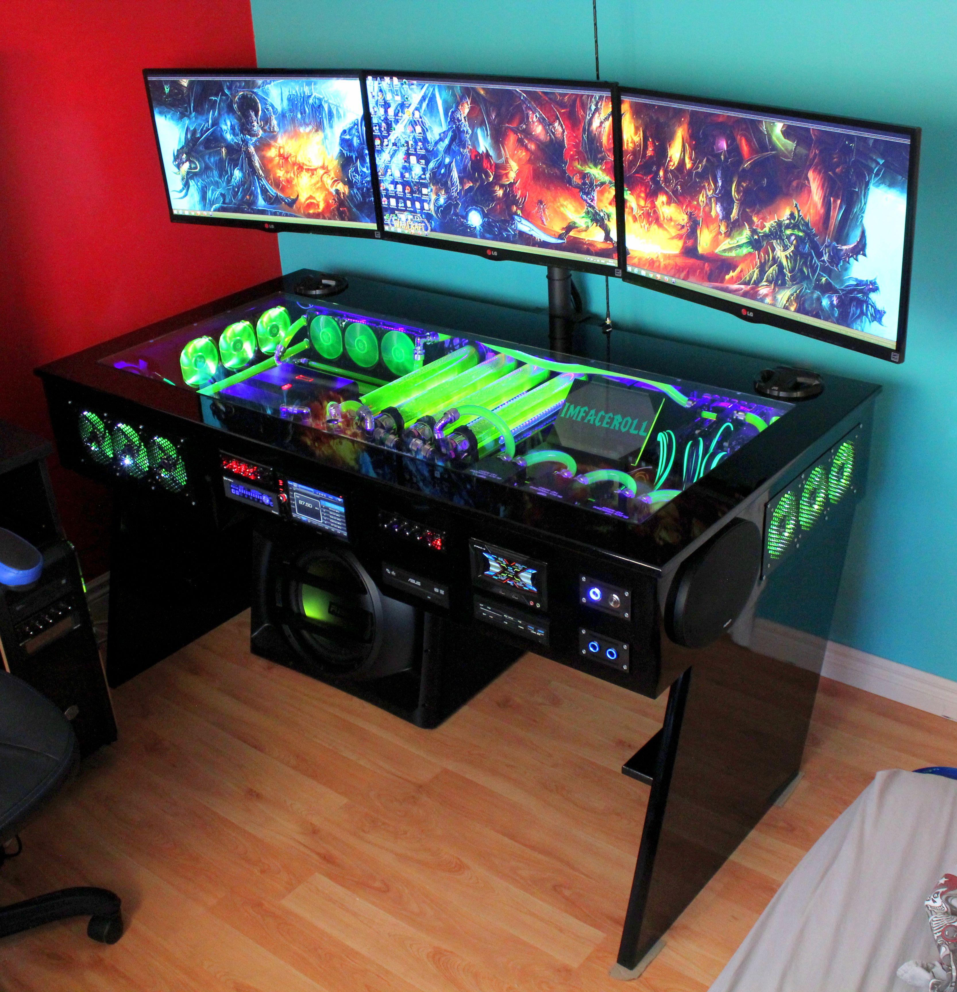 I Want Thaaaat 41 Photos Gaming Computer Desk Gaming Desk