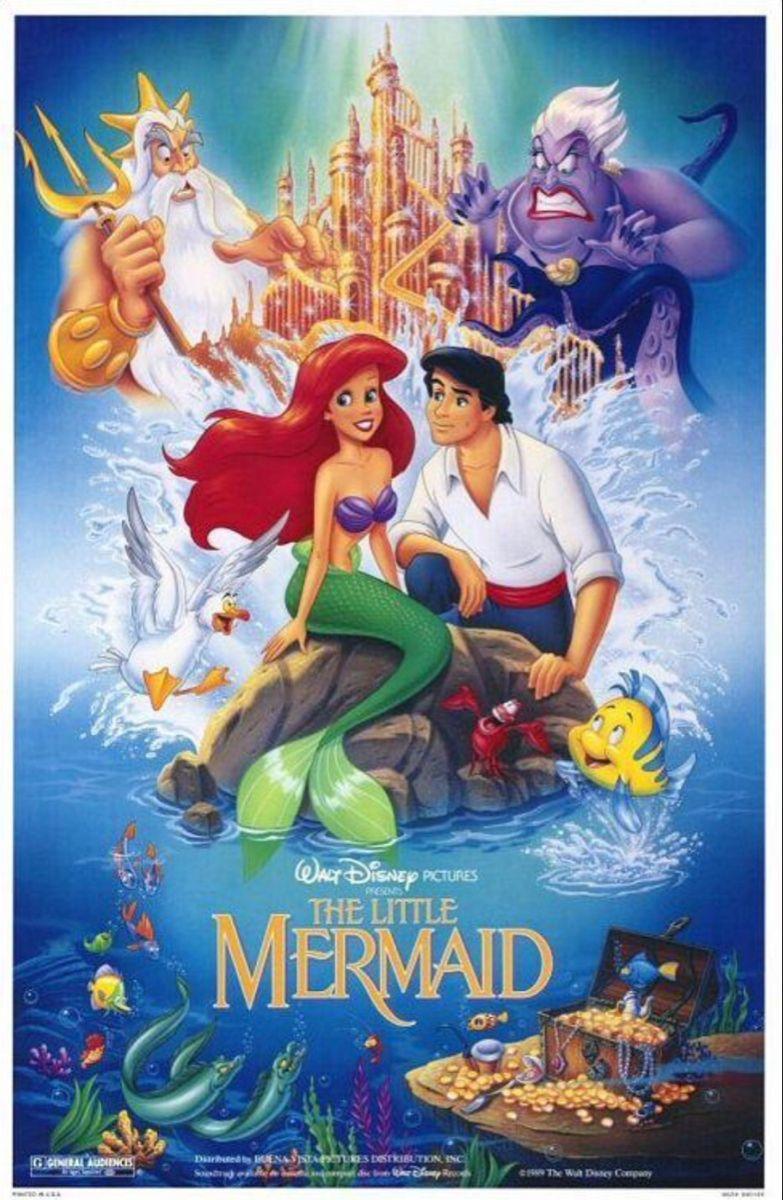La Sirenita Carteles De Películas De Disney Peliculas De Disney Carteles De Película Antiguos