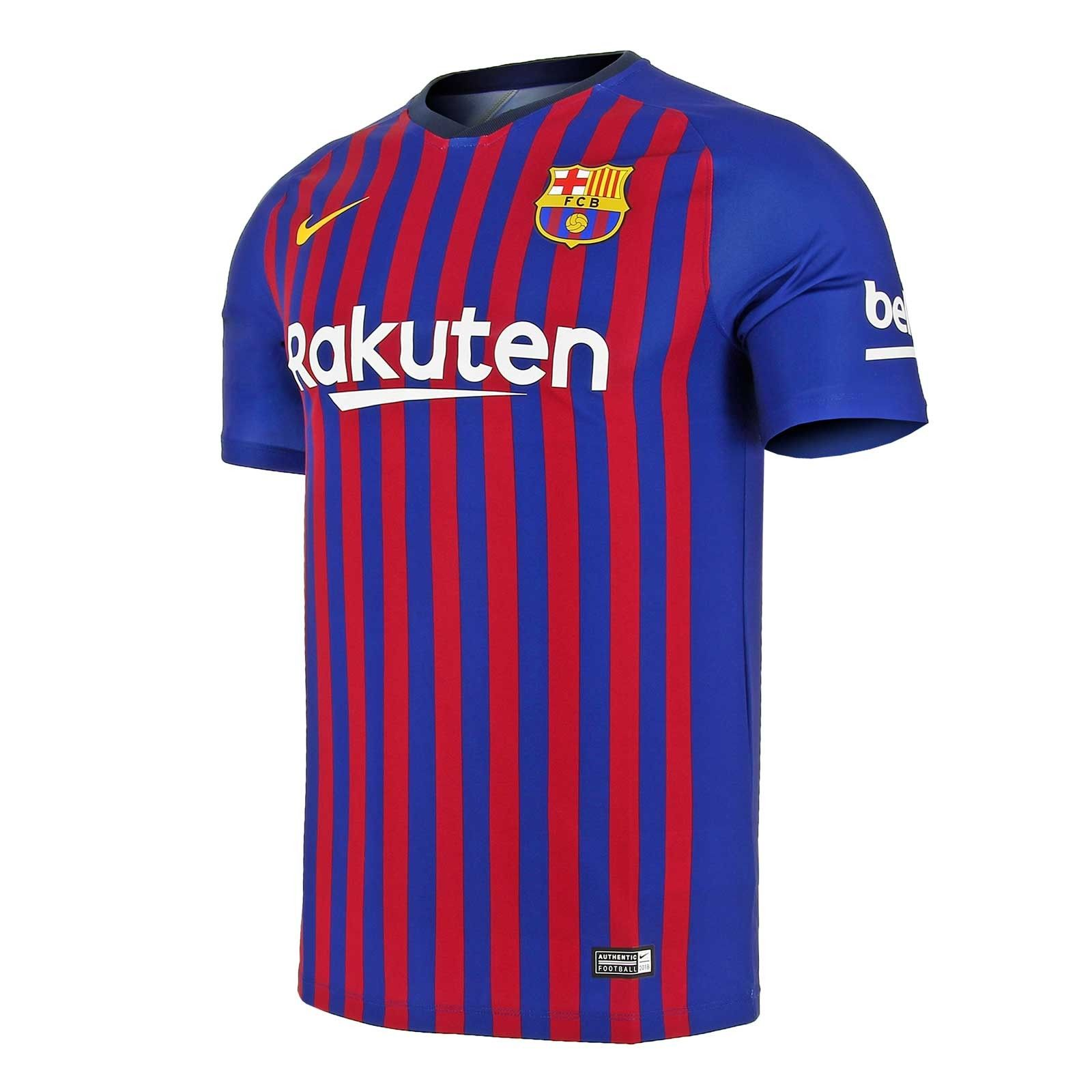 Camiseta Nike Barcelona 1a 2018 2019 Breathe  161896bf4e5