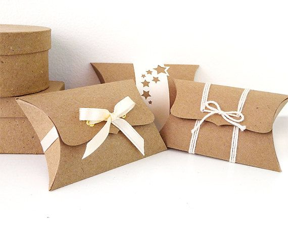 Pillow Boxes - 10 party favor boxes - DIY product packaging - gift box - unique