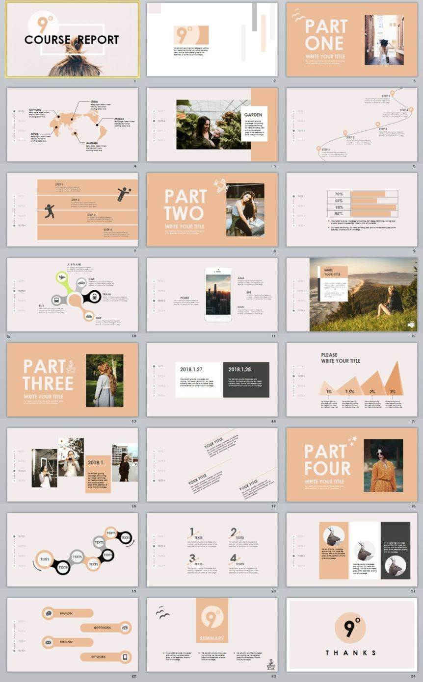 24 garment company analysis report powerpoint template powerpoint