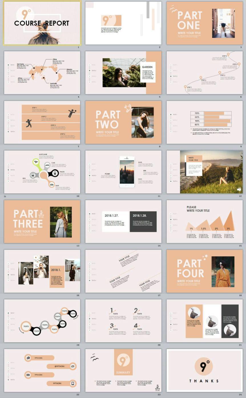 garment company analysis report powerpoint template also epic social media bundle post design rh pinterest