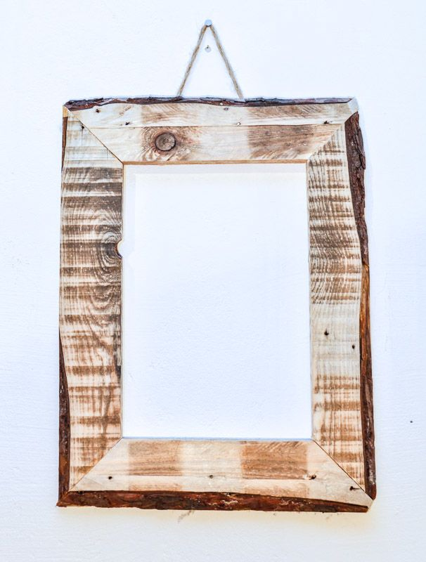upcycling bilderrahmen picture frame wood holz altholz recycling,