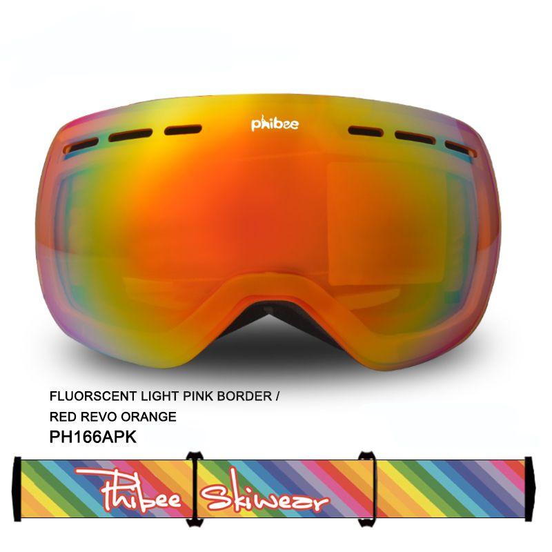 감지기 스키 고글 더블 UV400 안티 안개 큰 스키 안경 스키 남성 여성 스노우 보드 고글