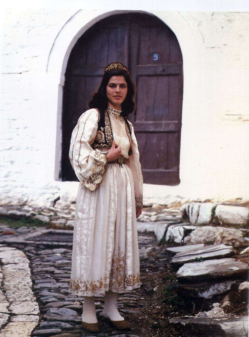 Albanian Folk Costumes Veshje Popullore Shqiptare Town Woman Dress Berat Xix Century Albanian Culture Folk Costume Traditional Outfits