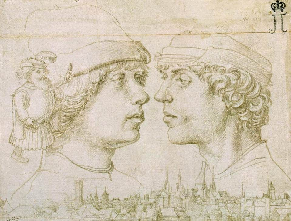 002 HOLBEIN, Hans the Elder Portrait of the Artist's Sons 1514