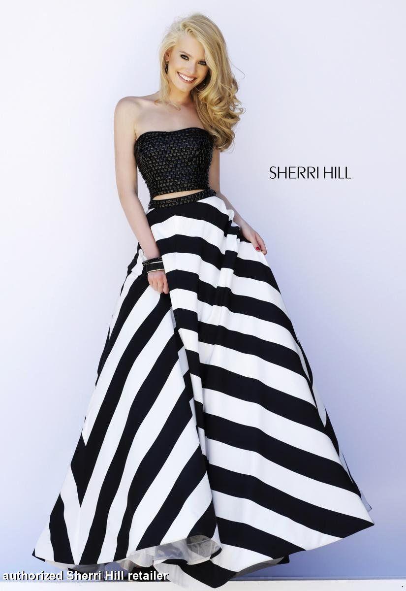 Sherri_Hill_32221_black_white__1.jpg (825×1200)   dresses ...