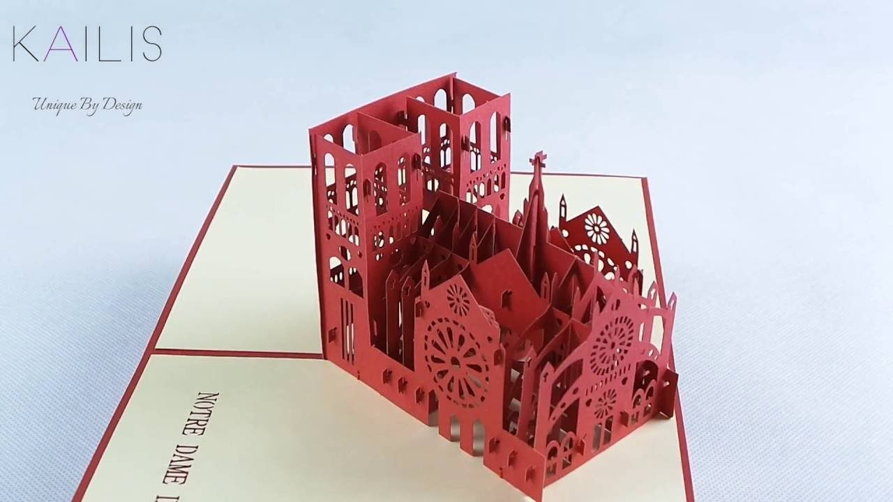 3d Incredibly Detailed 3d Replica Of Notre Dame De Paris Pop Up Card