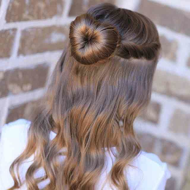 Day Hairstyles For Long Hair: Valentine's Day For The Kiddies