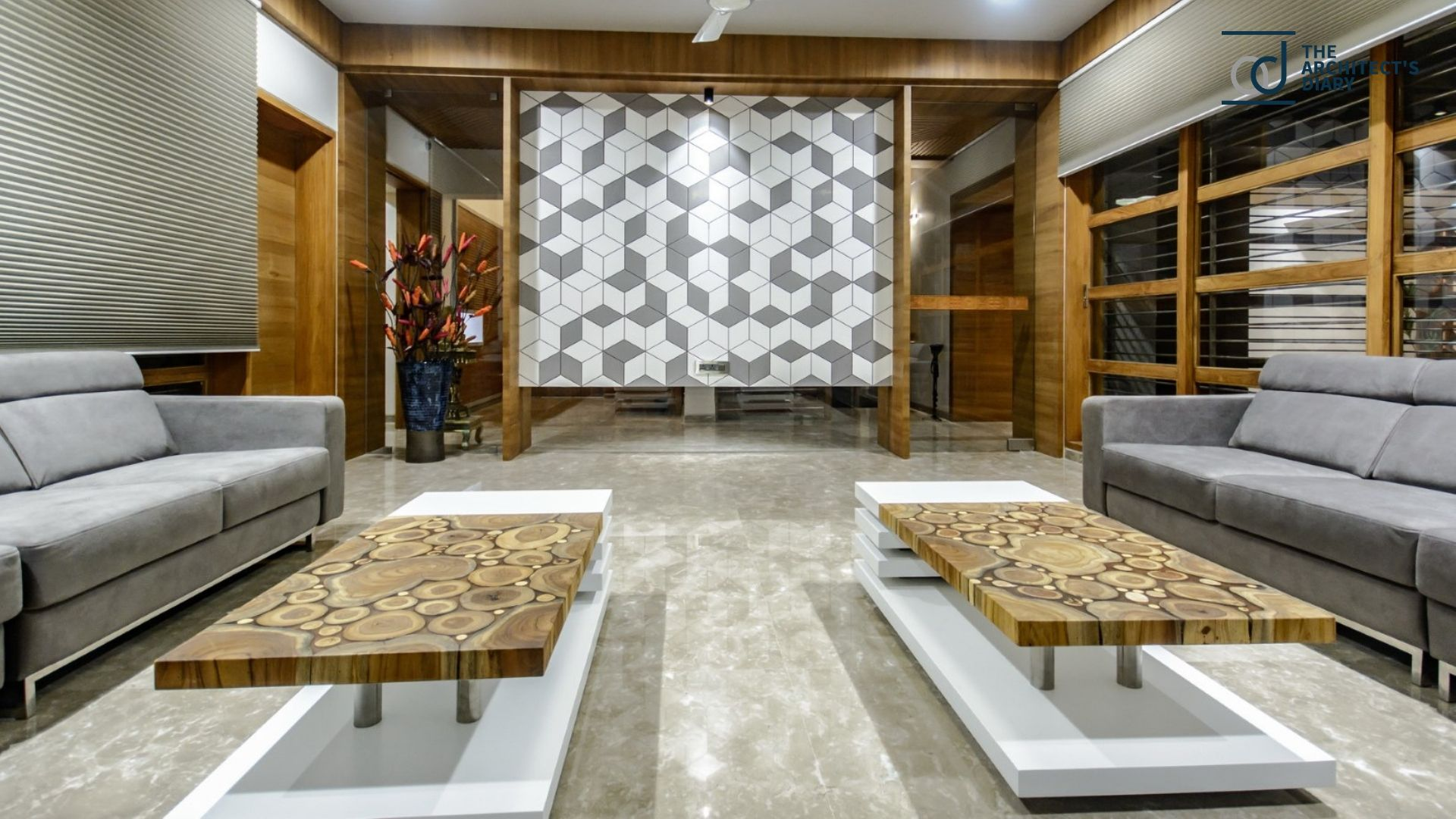 Edgy Yet Graceful Family Home In Ahmedabad Showroom Inte