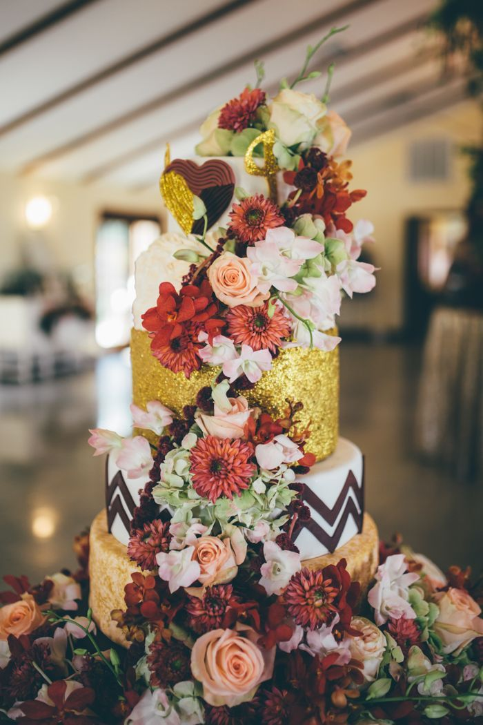 garden party wedding venues melbourne%0A Garden glam wedding cake   Image by Amber Phinisee