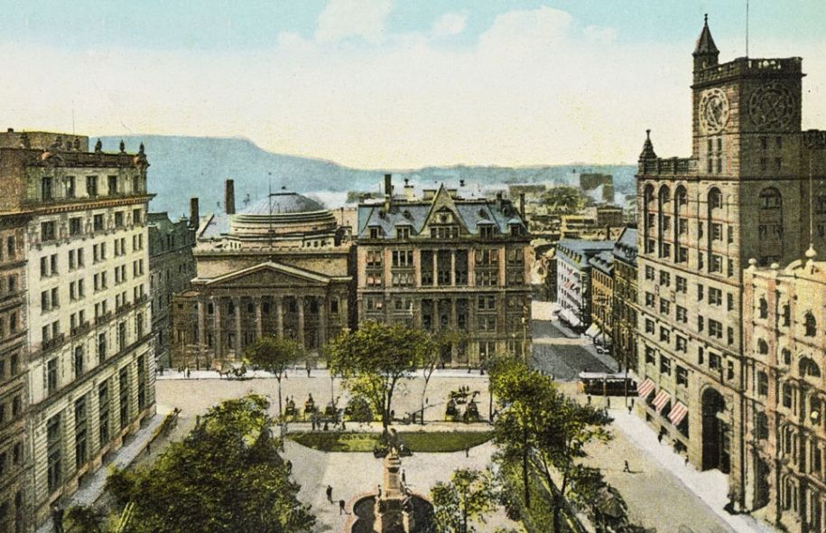 place d'arme montreal 1878 - Google Search