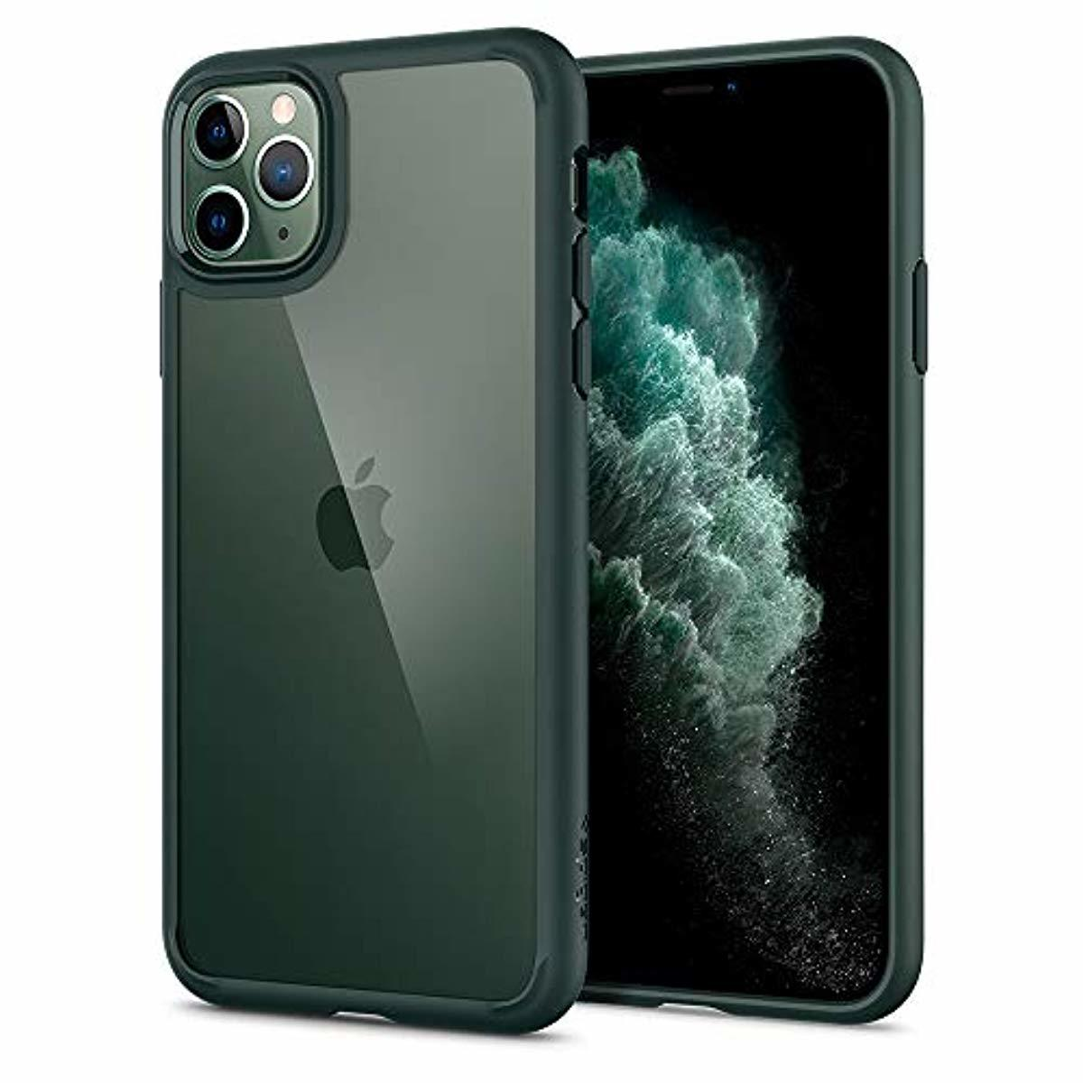 Spigen Ultra Hybrid Designed for Apple iPhone 11 Pro Max Case (2019) - Midnight Green