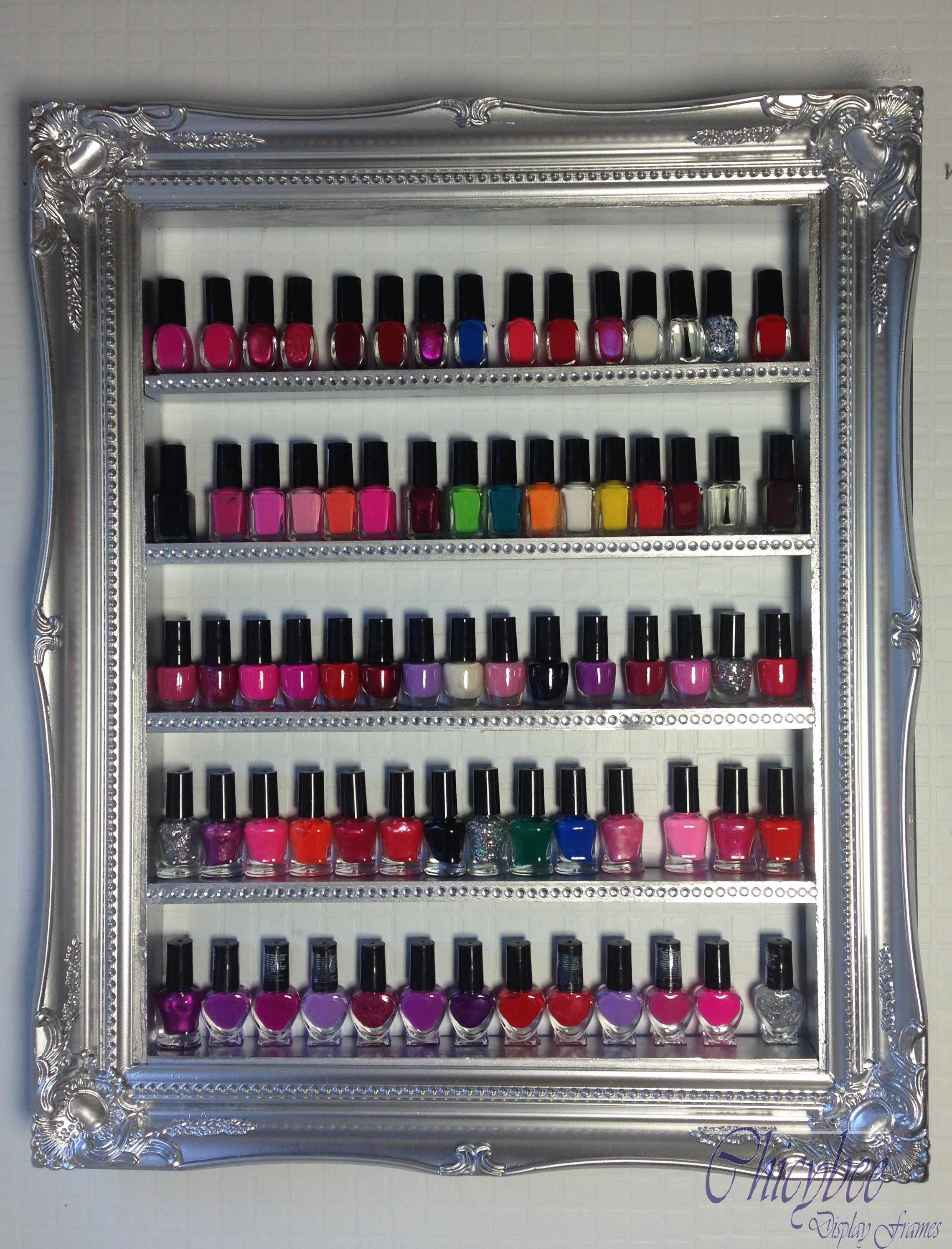 CND Shellac Gel Nail Polish Rack storage cabinet with diamante ...
