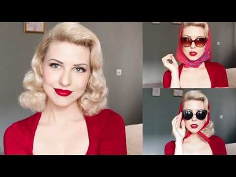 How to Become Old Hollywood Diva In 3 minutes l Vintage Head Scarf Tutorial