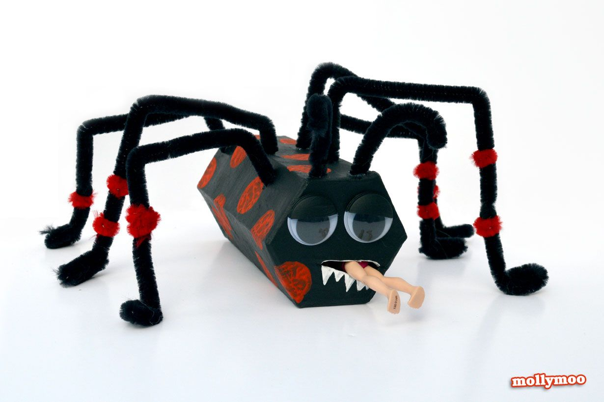 halloween crafts for kids - toilet roll spiders | spider, totally