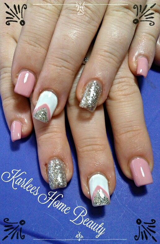Fluid Nail Design Acrylic Nails With Gel Polish