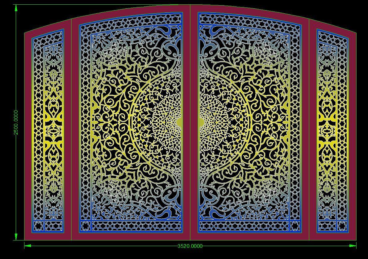 ابواب ليزر Iron Door Design Celling Design Gate Design