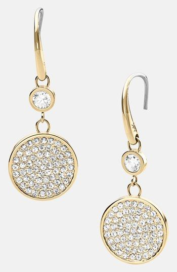 6cf38807d Michael Kors 'Brilliance' Pavé Disc Drop Earrings available at #Nordstrom