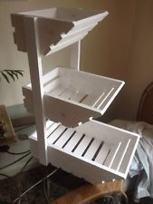 Two Tier Fruit And Veg Basket Fruit Storage Home Decor Accessories White Storage