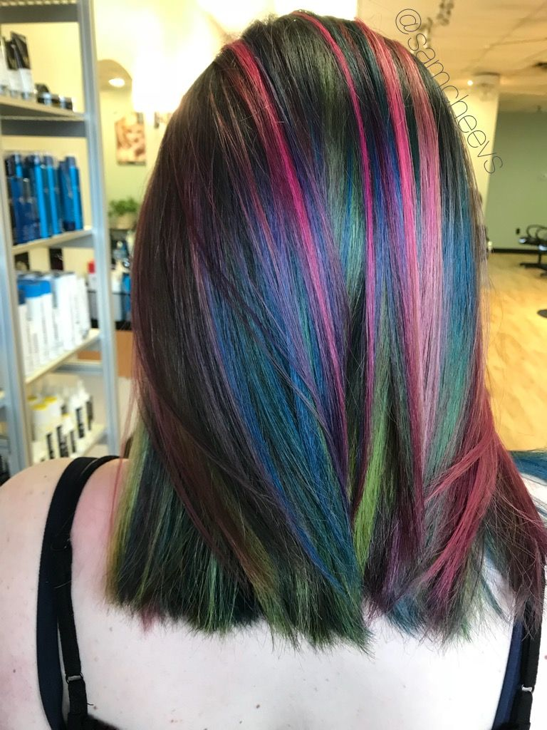 mermaid unicorn rainbow blue hair green hair pink and purple
