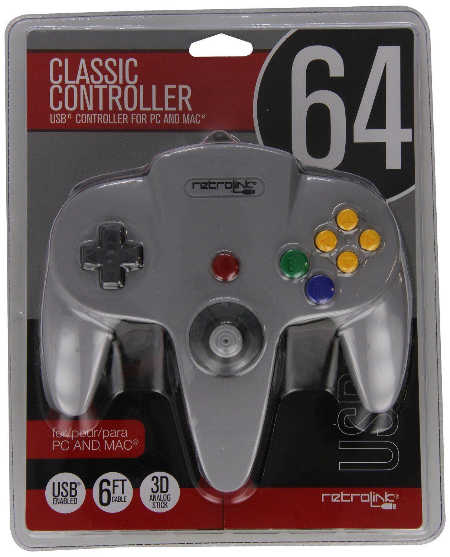 $12 2 - Retro-Bit Nintendo 64 Classic Usb Enabled Controller