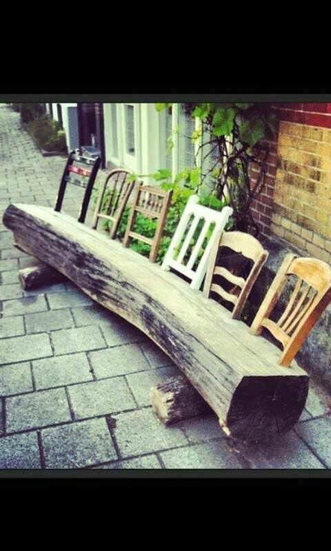 15 diy wood log ideas for your garden patio outdoor furniture