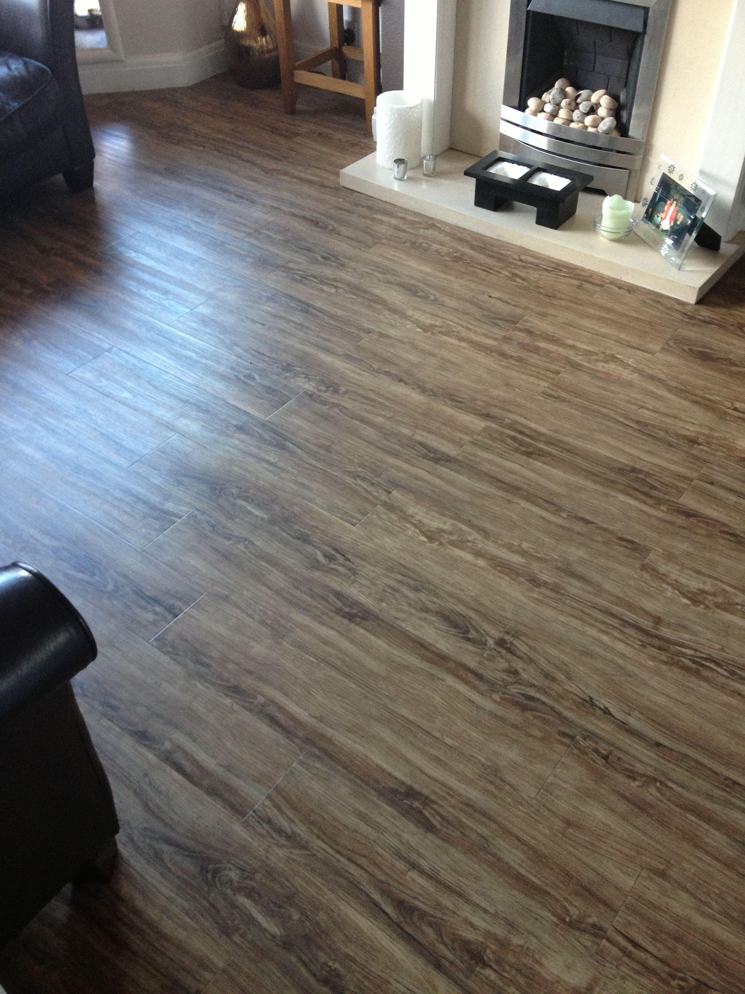 Luvanto Distressed Olive Wood Luxury Vinyl Tile Flooring