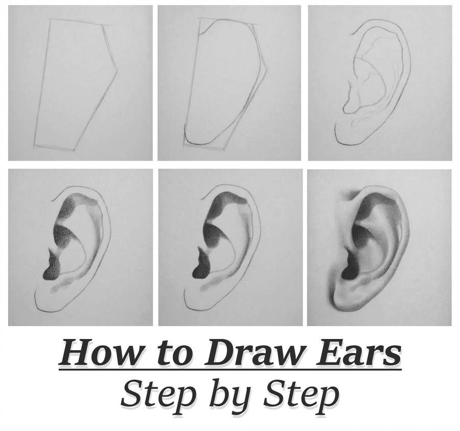 Tutorial How To Draw Ears Step By Step By Rapidfireart Realistic Drawings Nose Drawing How To Draw Ears