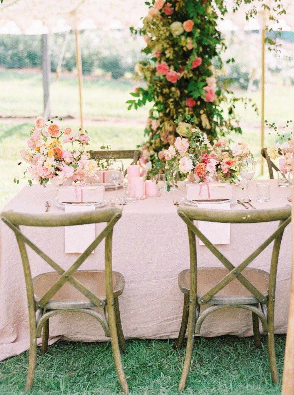 Garden Installation for an outdoor Wedding reception in a ...