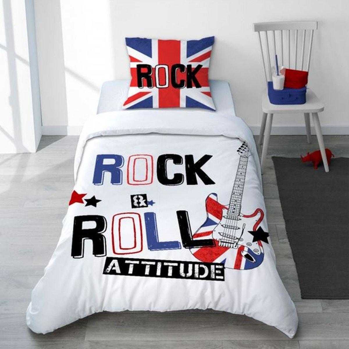 Parure Housse De Couette Musique London Rock Pour Chambre Ado London Rock Taille 240x220 Cm Couleur Chambre Ado Chambre Ado Et Parure Housse De Couette