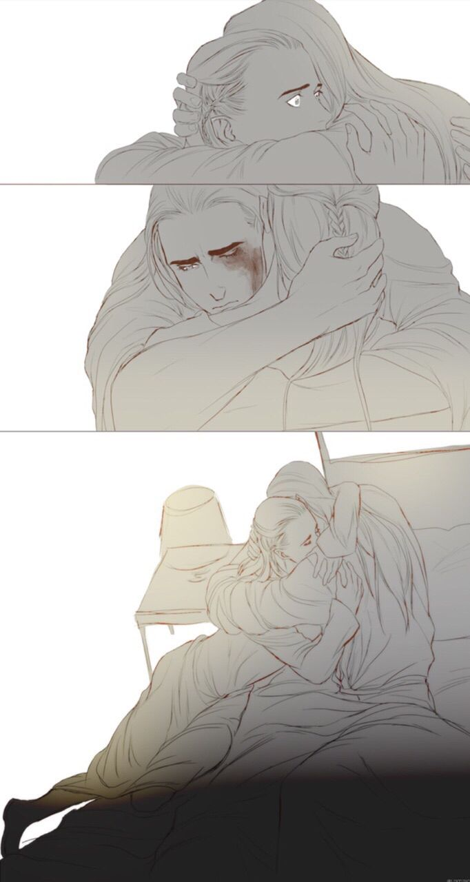 Thranduil awakened by nightmares of the dragons of the North