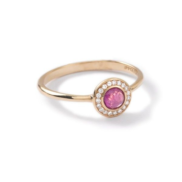Ippolita Lollipop® 18K Gold Mini Ring with Diamonds-Diamond, Ruby