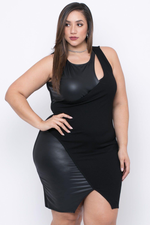 d4e175dc039 Plus Size Peekaboo Cocktail Dress - Black | Erica Lauren McNeill ...