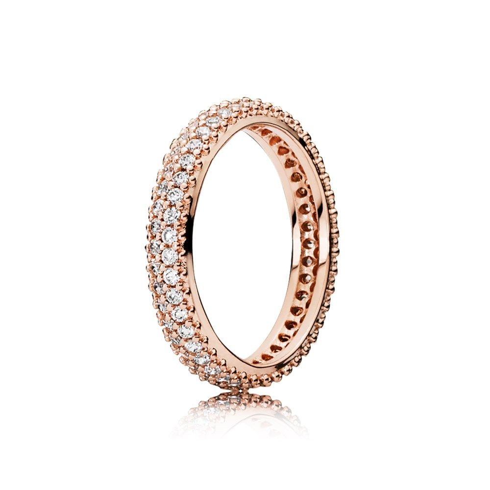 anello pandora corona oro rosa