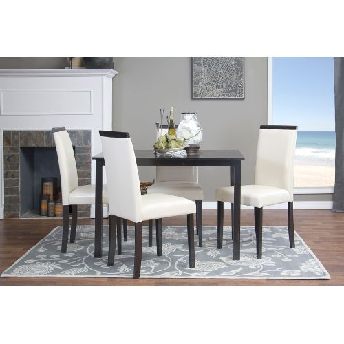 Modern Off White Dining Chair Set Of 2 Brown Dining Chairs Dining Chair Set Dining Room Sets