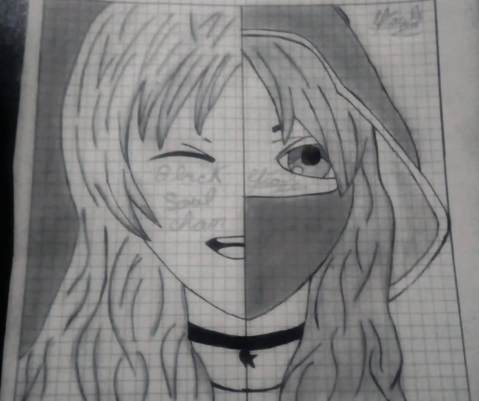 Chica Doble Personalidad Dibujo Doble Personalidad Dibujos Personalidad
