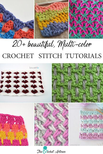 20+ MULTI-COLOR CROCHET STITCH TUTORIALS | Punto de crochet ...