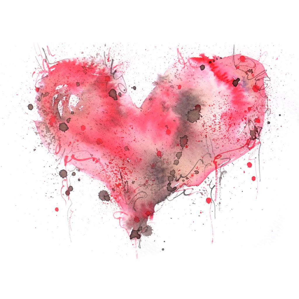 Red Love Heart 01