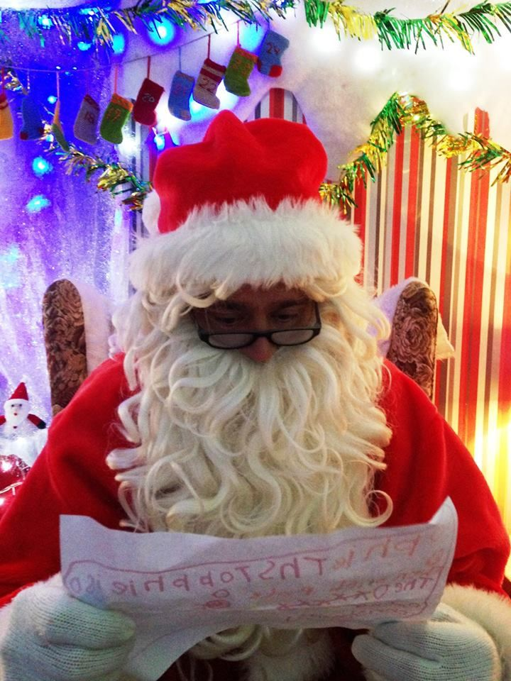 Take the kids to see Father Christmas AKA Santa Claus in his Christmas Grotto at Farmer Palmer's Farm Park, Poole, Dorset