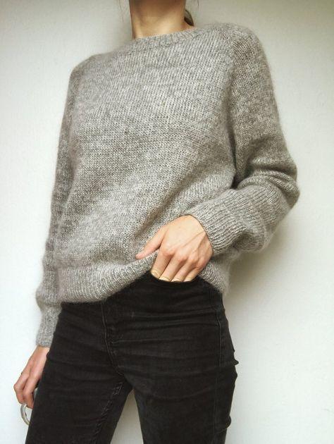 Ingen Dikkedarer Sweater - strikkeopskrift fra PetiteKnit #strikkeopskriftsweater