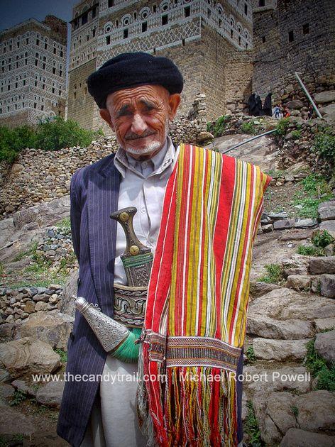 Old man from Harjjarah village - Haraz Mountains, Yemen