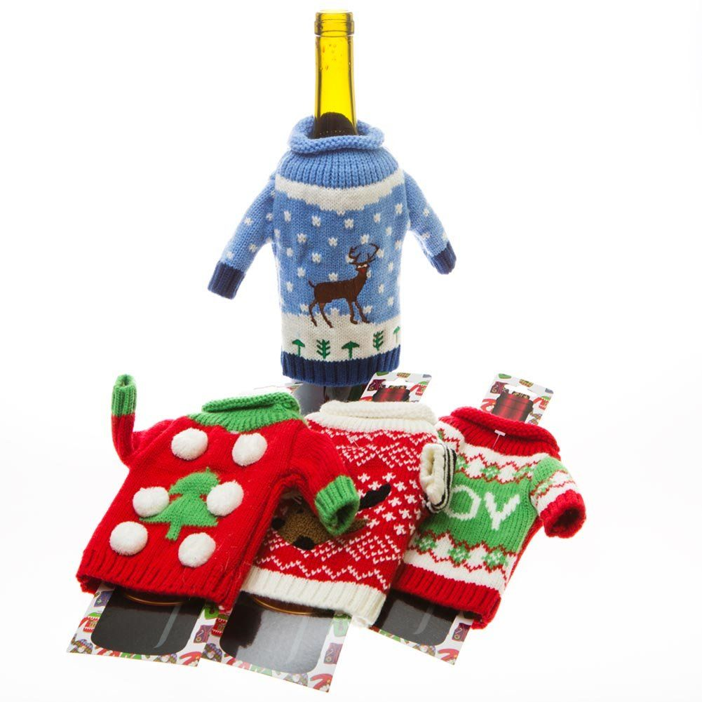 Ugly Christmas Sweater Wine Bottle Covers | The Best Ugly Christmas ...