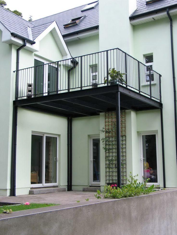 Industriel Terrasse Suspendue Escaliers Maison Escalier Exterieur
