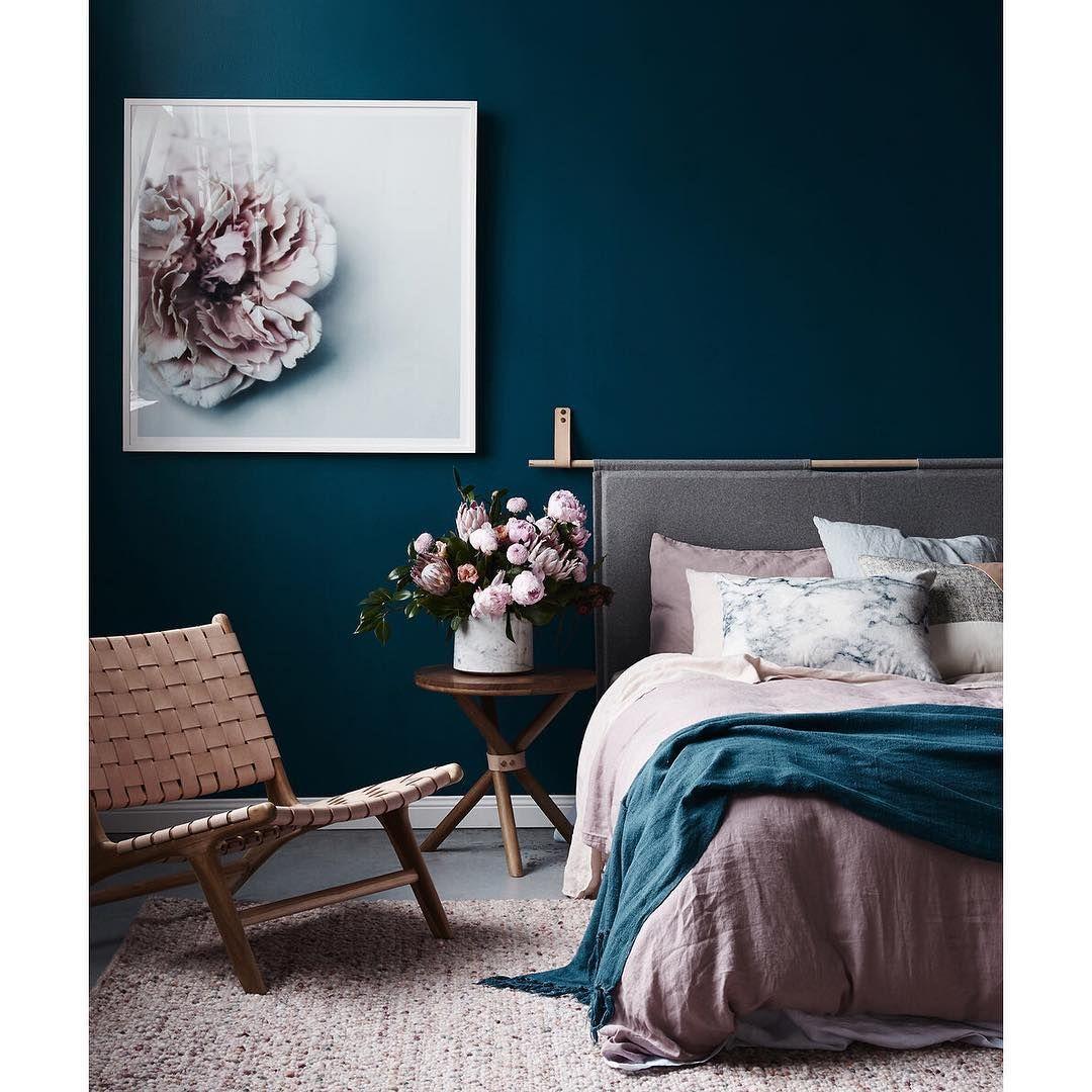 Bedroom Design Decor Bright Teal Blue Bedroom: En Herlig Og Rolig Fargepalett Til Inspirasjon På