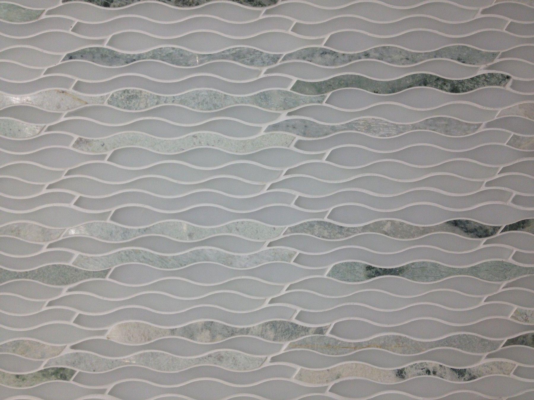 Allure waves glass and marble tile also hazelnut cream pinterest basements